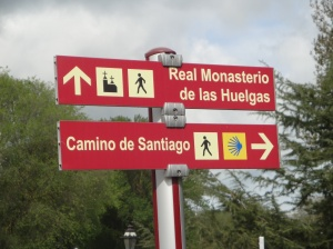 This is the waymarker as we leave Burgos onto the relative wilderness of the Meseta.