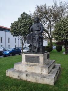 A Pilgrim's Monument as we're leaving Burgos
