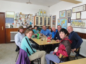 True international gathering at the local Cafe.