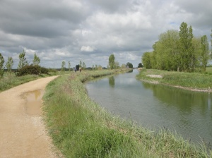 The Canal de Castilla was very scenic. I walked it with two Spaniards.