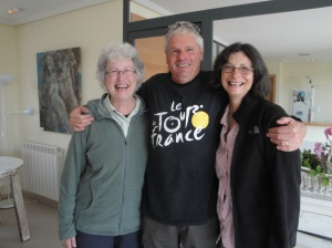 Great Camino friends from Australia, Debbie, Nick, and Judy.  They're off to Leon tomorrow!