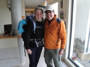 Another friend we've met along the way, Cecelia from Denmark, traveling on her own.