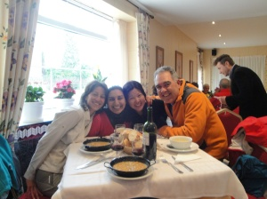 We meet again with the very kind and lovely young ladies from the UK and Japan with a friend they made from Italy