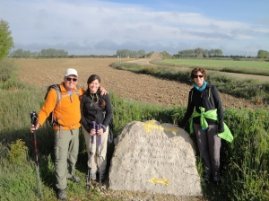 Here we are by a very old marker identifying the 2,000 year old Via Aquitana