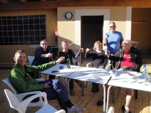The friendly and generous Germans who perfectly capped our long 40 km day - Volker, Johann, Natasha, Renata, and Horst.