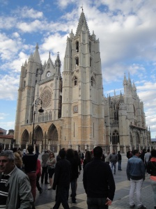 The magnificent cathedral in Leon.