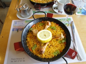 Paella Valenciana at the Casino Restaurant - Plaza Mayor