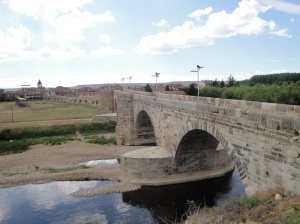 The medieval Puente de Orbigo.