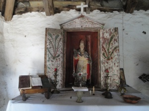 The altar inside the Chapel of St. Sylvestre at the Casa de Carmen.