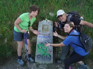 The 100 kilometer marker to Santiago. We're getting close!