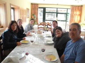 Heike, Solveirene, Mila, Inge, Andrea and I enjoying a home cooked Spanish meal.  Can you see how tired Heike and I look?