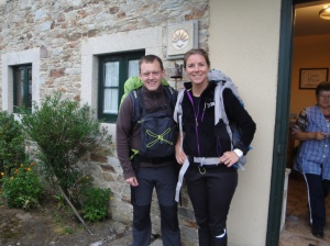 The young Norwegian missionaries on the Camino, Solveirene (sp?) and Inge.
