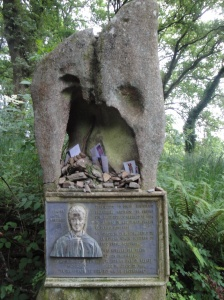 One of many interesting and touching memorials of those who died on the Camino.