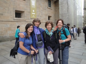 Britta, from Denmark, completing her third Camino! We met her in Leon and have been Camino friends since.