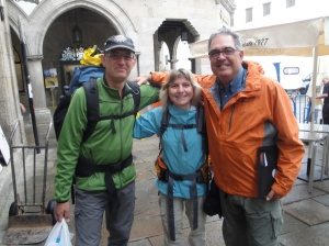 Volker, the handsome police officer from near Osnabrueck and Renate the pretty, shy young lady from near Munich who were so kind to Heike and I after our 40 kilometer walk to Reliegos. They reminded me of what is so good about Germany - it's people.