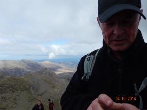 Carl at the summit!