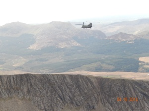 Chinook Helicopter on mountain rescue training.