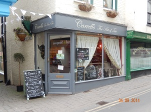Carvell's Art of Tea Shop in Ludlow.